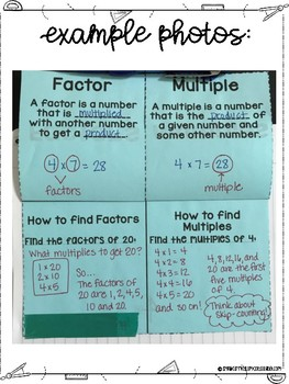 Fifth Grade Math All Operations with Fractions Interactive Notebook
