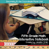 Fifth Grade- Geometry and the Coordinate Plane Interactive Notebook