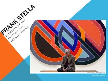 Elementary Art Lesson 5th: Frank Stella Abstract Art Protractor & Marzano DQs