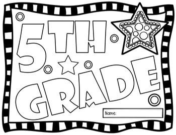 Fifth Grade Back to School Glyph Activity