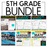 Fifth Grade Bundle: Language, Grammar, Math, and Reading
