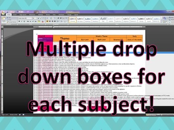 5th Grade CCGPS/Standards of Excellence Editable Lesson Plans w/Dropdown Boxes