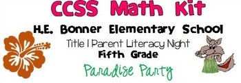 Fifth Grade CCSS Math Kit