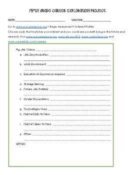 Fifth Grade Career Exploration Project