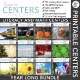 Fifth Grade Centers Math and Literacy | YEAR LONG BUNDLE | Volume One