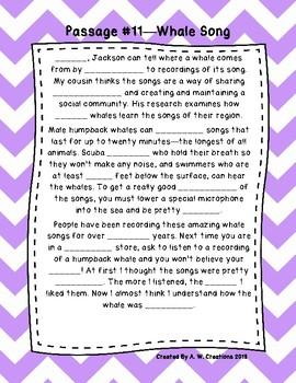 Fifth Grade Cloze Reading Passages Set B (#11-20)