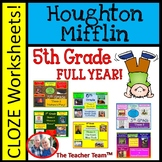 Houghton Mifflin Reading 5th Grade Cloze Worksheet Full Year Bundle Themes 1-6