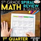 5th Grade Math Review | Homework or Morning Work | 1st Quarter