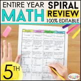 5th Grade Math Spiral Review   5th Grade Math Homework or