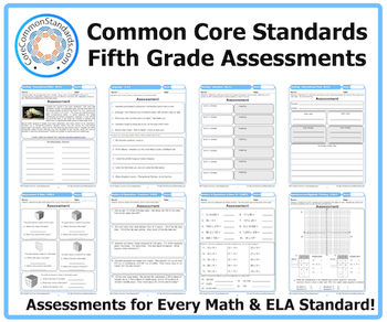 Fifth Grade Common Core Assessment Workbook