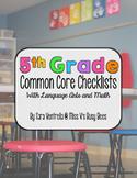 Fifth Grade Common Core Checklist for Teachers – ELA & Math