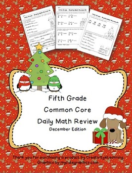 Fifth Grade Common Core Daily Math Review - December Edition