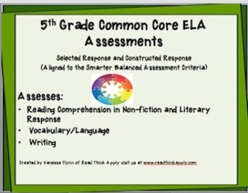 Fifth Grade Common Core ELA Assessments