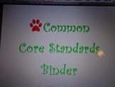 Fifth Grade Common Core ELA Standards Binder Organization