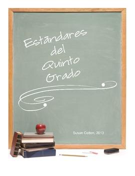 Fifth Grade Common Core ELA checklist in Spanish
