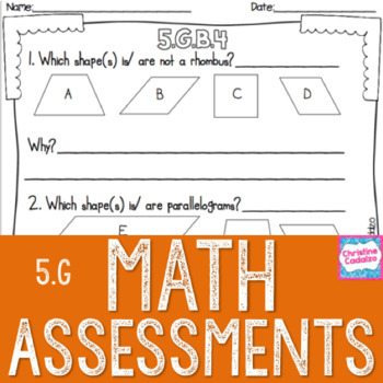 Math Assessments - Fifth Grade Geometry