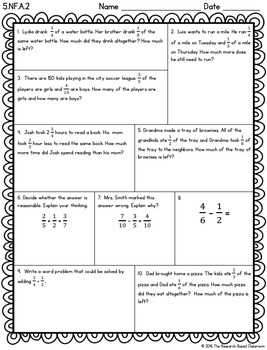 Fifth Grade Common Core Math Assessments