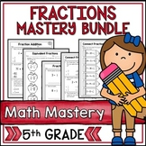 5th Grade Math Test Prep Review Fractions