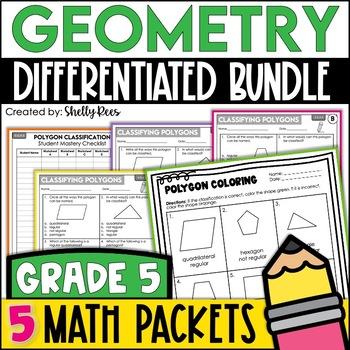 Geometry Worksheets Bundle