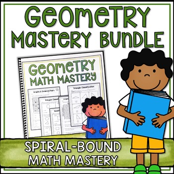 Fifth Grade Common Core Math Geometry Bundle - Spiral Bound HARD COPY