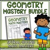Geometry Worksheets Bundle - Spiral Bound Version