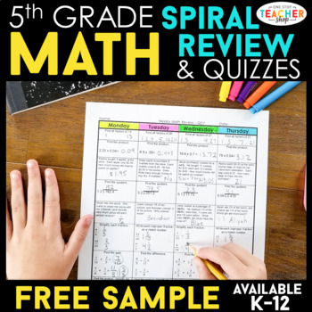 5th Grade Math Homework 5th Grade Morning Work | Math Spir