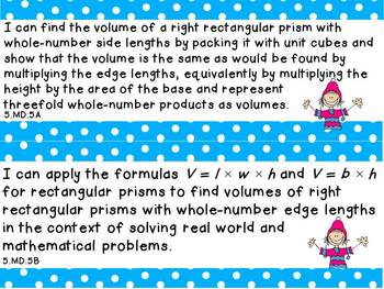 """Fifth Grade Common Core Math """"I Can"""" Statements"""