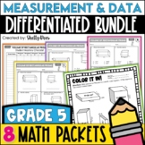 5th Grade Math Test Prep Review Measurement and Data Bundle