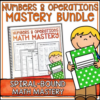 Fifth Grade Common Core Math Numbers & Operations Bundle -Spiral Bound HARD COPY