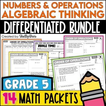 Fifth Grade Common Core Math OA & NBT Bundle - 14 Packets!
