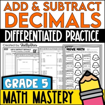 Adding And Subtracting Decimals Worksheets By Shelly Rees Tpt