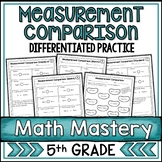 Comparing Measurements Worksheets