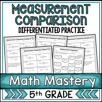 Comparing Measurements Worksheets