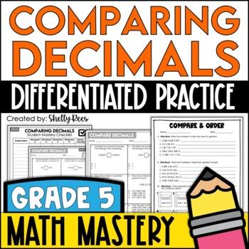 comparing decimals worksheet teaching resources  teachers pay teachers comparing decimals worksheets comparing decimals worksheets