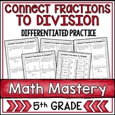 Fractions and Division Worksheets