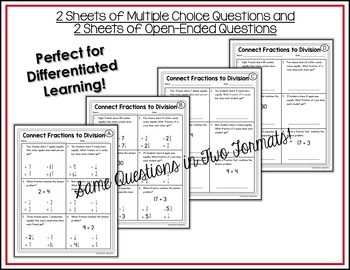 fractions and division worksheets by shelly rees  tpt fractions and division worksheets