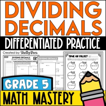 Dividing Decimals Worksheet Teaching Resources | Teachers Pay Teachers