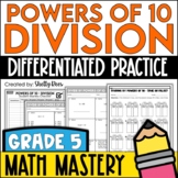 Dividing by Powers of 10 Worksheets