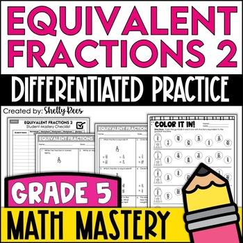 Equivalent Fractions Worksheets - Set #2