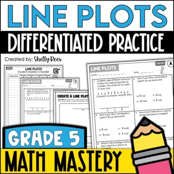 Line Plots and Data (5th Grade Common Core Math: 5.MD.2)