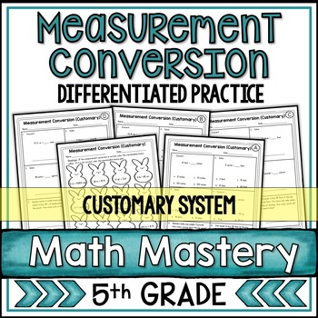 Measurement Conversion Worksheets Customary System By Shelly Rees