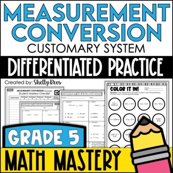 Measurement Conversion Worksheets - Customary System