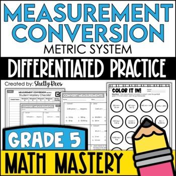 Measurement Conversion - Metric System (5th Grade Common Core Math: 5.MD.1)