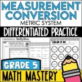 Measurement Conversion Worksheets - Metric System