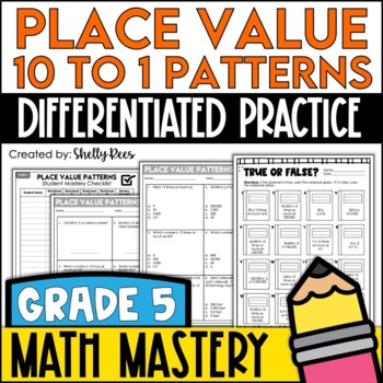 Place Value Patterns Worksheets 60 To 60 Relationships By Shelly Rees Interesting Place Value And Patterns
