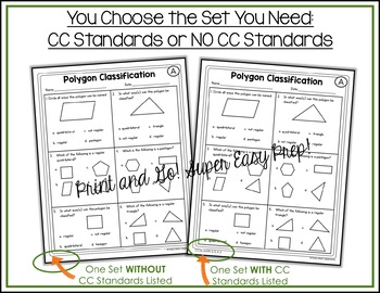 Classifying Polygons Worksheets by Shelly Rees   TpT