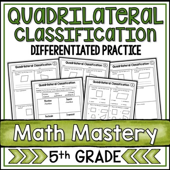 Classifying Quadrilaterals Worksheets By Shelly Rees Tpt