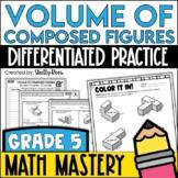 Additive Volume Worksheets - Volume of Composed Figures