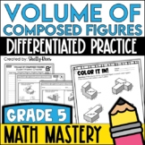 Additive Volume Worksheets - Volume of Composed Figures