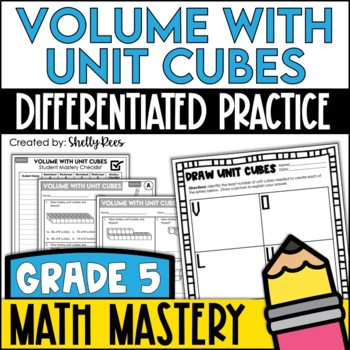 Volume of Unit Cubes (5th Grade Common Core Math: 5.MD.3 and 5.MD.4)